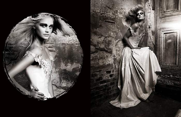 Chantal Mallett gowns in DeVour Magazine