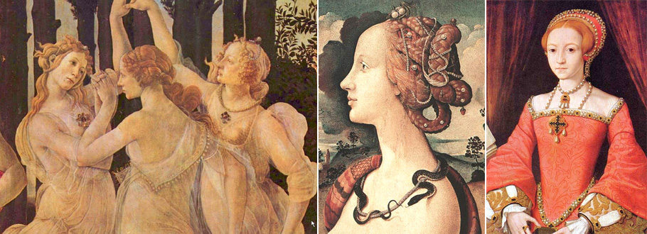 Piero di Cosimo's Cleopatra - beautiful examples of Renaissance women.