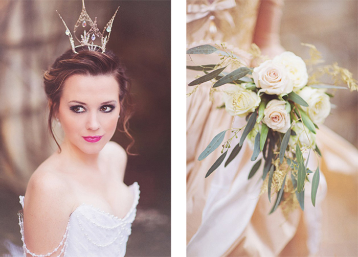 Cinderella inspired styled wedding shoot via youandyourwedding.co.uk, image: Sanshine Photography